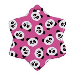 Cute Panda Pink Ornament (snowflake)