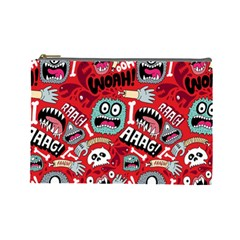 Agghh Pattern Cosmetic Bag (large)
