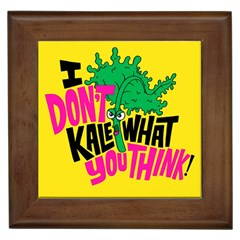 Idont Kale Think Framed Tiles