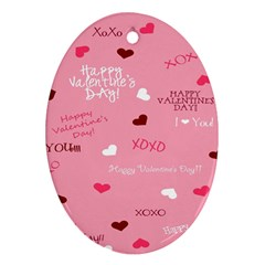 Happy Valentines Day Ornament (oval)