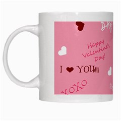 Happy Valentines Day White Mugs