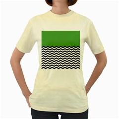 Lime Green Chevron Women s Yellow T Shirt