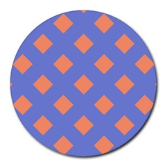 Orange Blue Round Mousepads
