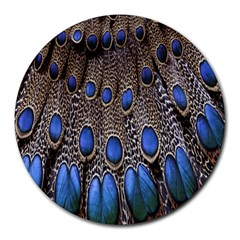Feathers Peacock Light Round Mousepads