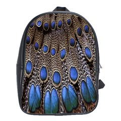 Feathers Peacock Light School Bags(large)