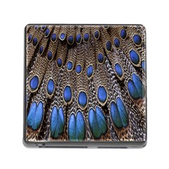 Feathers Peacock Light Memory Card Reader (square)