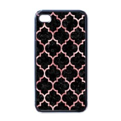 Tile1 Black Marble & Red & White Marble Apple Iphone 4 Case (black)