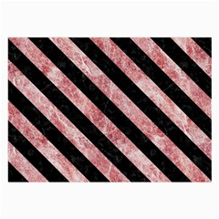 Stripes3 Black Marble & Red & White Marble (r) Large Glasses Cloth (2 Sides)