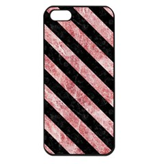 Stripes3 Black Marble & Red & White Marble (r) Apple Iphone 5 Seamless Case (black)