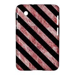Stripes3 Black Marble & Red & White Marble (r) Samsung Galaxy Tab 2 (7 ) P3100 Hardshell Case