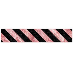 Stripes3 Black Marble & Red & White Marble (r) Flano Scarf (large)