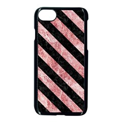 Stripes3 Black Marble & Red & White Marble (r) Apple Iphone 7 Seamless Case (black)