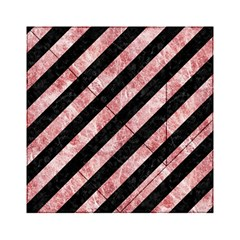 Stripes3 Black Marble & Red & White Marble Acrylic Tangram Puzzle (6  X 6 )