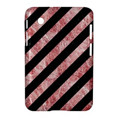 Stripes3 Black Marble & Red & White Marble Samsung Galaxy Tab 2 (7 ) P3100 Hardshell Case