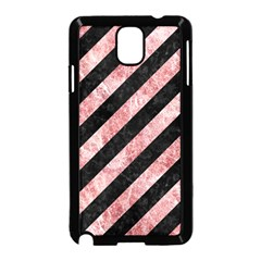 Stripes3 Black Marble & Red & White Marble Samsung Galaxy Note 3 Neo Hardshell Case (black)
