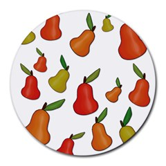 Decorative pears pattern Round Mousepads