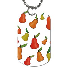 Decorative pears pattern Dog Tag (Two Sides)