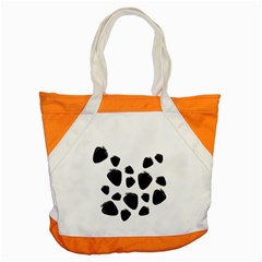 Black strowberries Accent Tote Bag