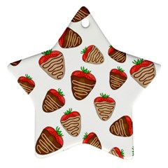 Chocolate strawberries  Ornament (Star)