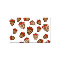 Chocolate strawberries  Magnet (Name Card)
