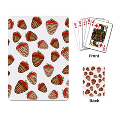 Chocolate strawberries  Playing Card