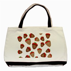 Chocolate strawberries  Basic Tote Bag (Two Sides)