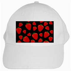 Strawberries pattern White Cap