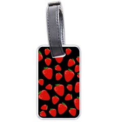 Strawberries pattern Luggage Tags (One Side)