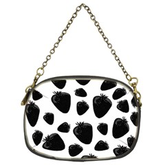 Black strawberries pattern Chain Purses (Two Sides)