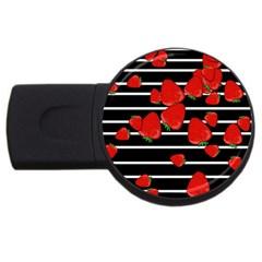 Strawberries  USB Flash Drive Round (4 GB)