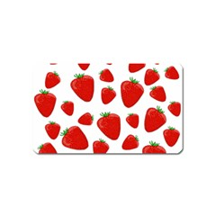 Decorative strawberries pattern Magnet (Name Card)