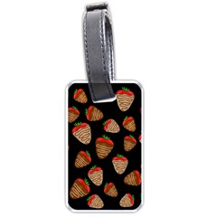 Chocolate strawberries pattern Luggage Tags (One Side)