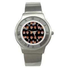 Chocolate strawberies Stainless Steel Watch