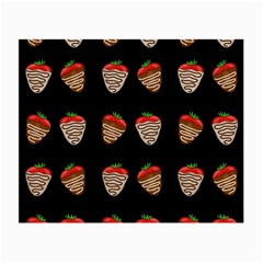 Chocolate strawberies Small Glasses Cloth (2-Side)