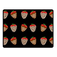 Chocolate strawberies Fleece Blanket (Small)