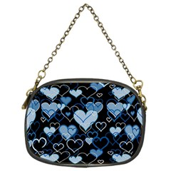 Blue harts pattern Chain Purses (Two Sides)