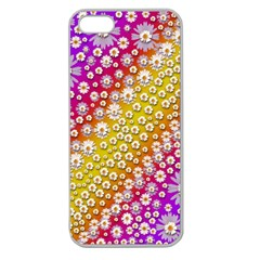 Falling Flowers From Heaven Apple Seamless Iphone 5 Case (clear)