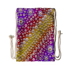 Falling Flowers From Heaven Drawstring Bag (small)