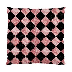 Square2 Black Marble & Red & White Marble Standard Cushion Case (one Side)