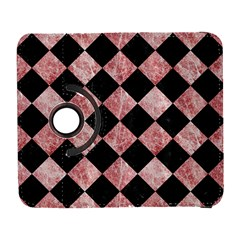 Square2 Black Marble & Red & White Marble Samsung Galaxy S  Iii Flip 360 Case
