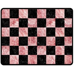 Square1 Black Marble & Red & White Marble Double Sided Fleece Blanket (medium)