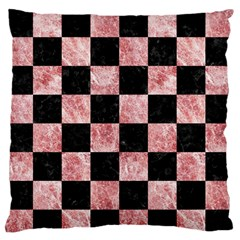 Square1 Black Marble & Red & White Marble Large Flano Cushion Case (two Sides)