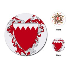 Emblem Of Bahrain Playing Cards (round)