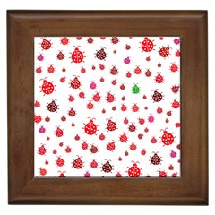 Beetle Animals Red Green Fly Framed Tiles