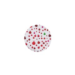 Beetle Animals Red Green Fly 1  Mini Buttons