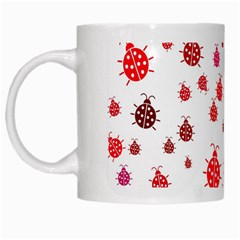 Beetle Animals Red Green Fly White Mugs