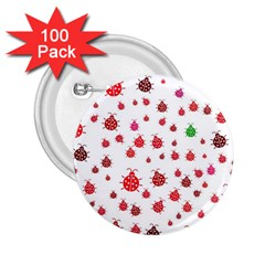 Beetle Animals Red Green Fly 2.25  Buttons (100 pack)