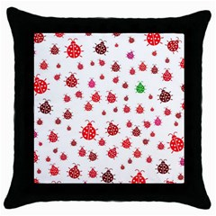 Beetle Animals Red Green Fly Throw Pillow Case (black)