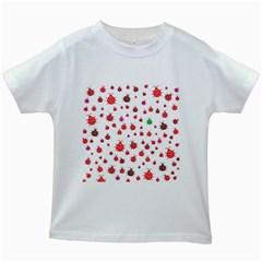 Beetle Animals Red Green Fly Kids White T Shirts