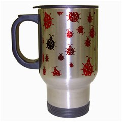 Beetle Animals Red Green Fly Travel Mug (silver Gray)